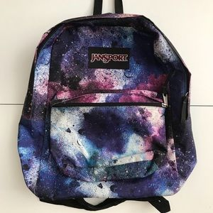 Jansport. Back Pack. Galaxy. Back to School.